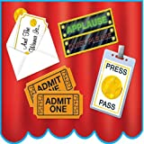 Beistle 50116 4-Pack Awards Night Cutouts, 14-Inch