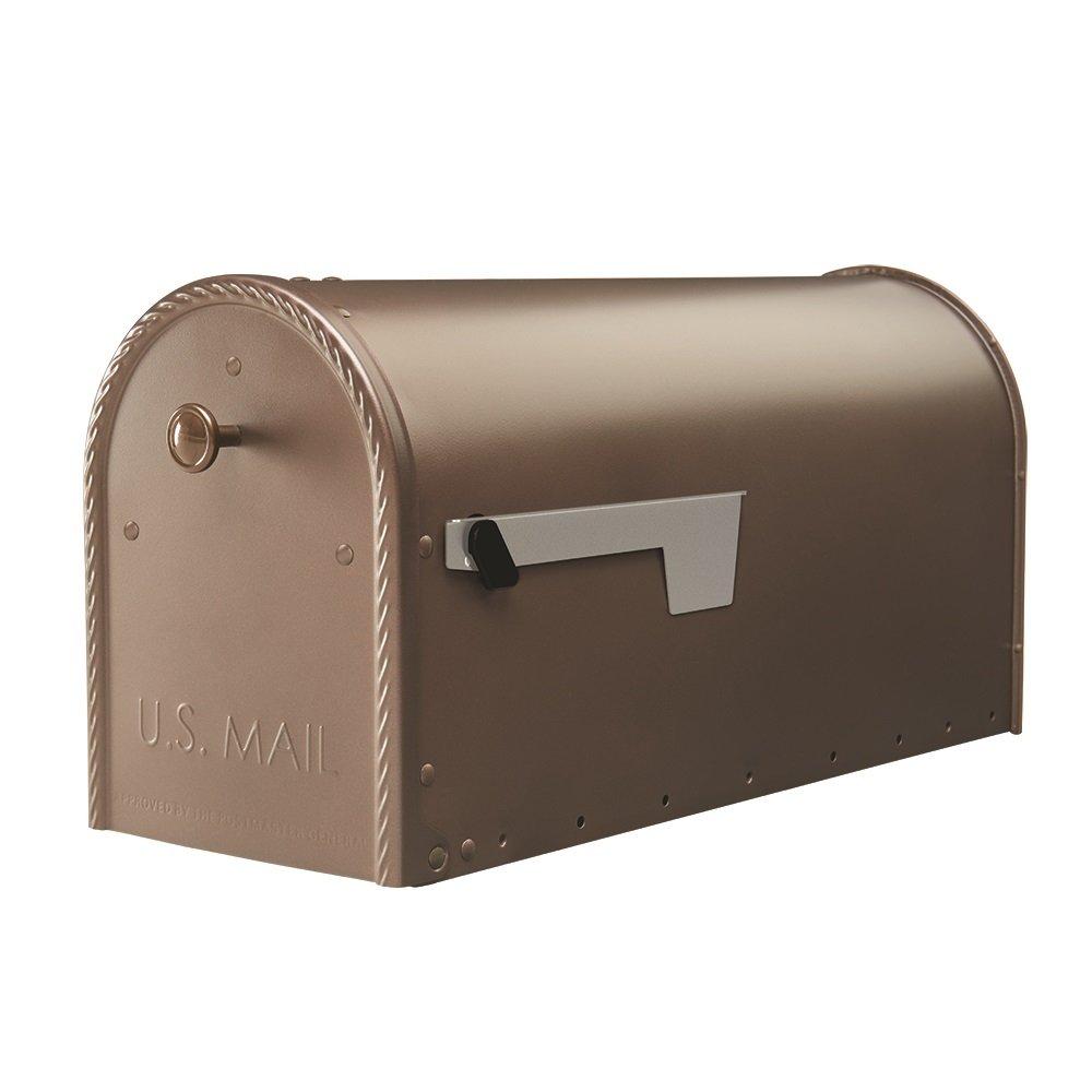 Gibraltar Mailboxes Edwards Large Capacity Galvanized Steel Venetian Bronze, Post-Mount Mailbox, EM160VB0