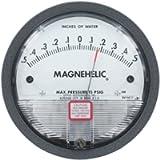 Dwyer Magnehelic Series 2000 Differential Pressure Gauge, Range 15-0-15'WC