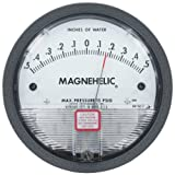 Dwyer® Magnehelic® Differential Pressure Gage, 2301, Zero Center Range: .50-0-.50