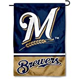 WinCraft Milwaukee Brewers Double Sided Garden Flag
