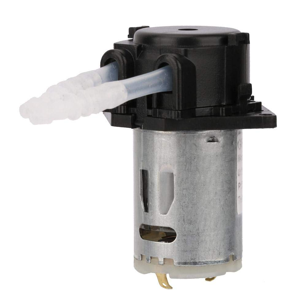 12V Peristaltic Pump 10 Ml//Min -90 Ml//Min Black Pharmaceutical Fine Chemical Analysis Used in The Field of Biochemical Small Peristaltic Dosing Pump