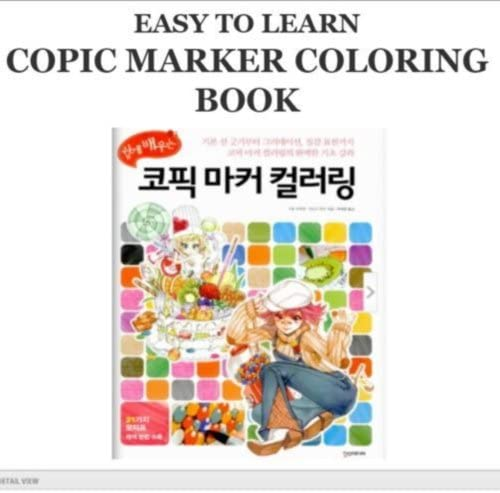 - Amazon.com: Copic Easy To Learn Marker Coloring Book Sketch Color Chart:  Furniture & Decor