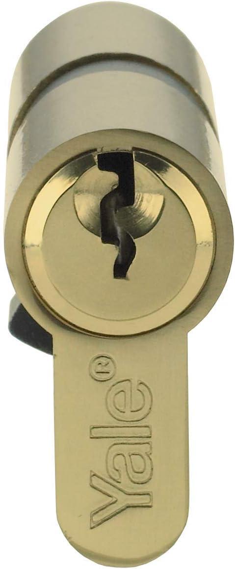70 mm 3 llaves Yale P-ED3030-SNP Cilindro doble Euro incluido embalaje Visi seguridad est/ándar 30:10:30 Acabado en n/íquel apto para todo tipo de puertas