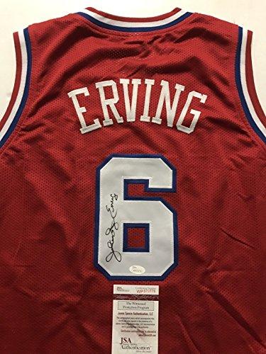 Autographed/Signed Julius Erving 'Dr. J' Philadelphia 76ers Sixers Red Basketball Jersey JSA COA