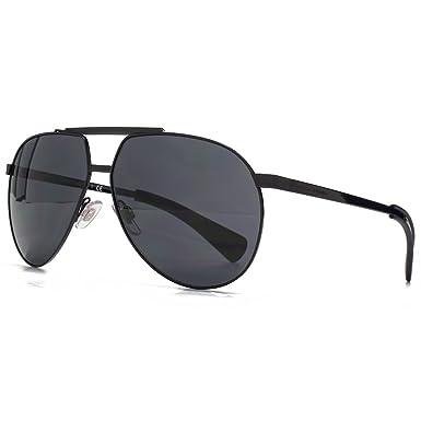 ecd719ac59bf69 Dolce   Gabbana Lunettes de soleil aviateur en noir mat DG2152 01 87 61 61