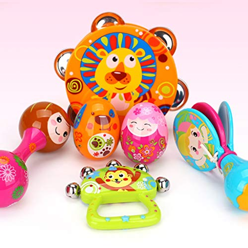 LIPENG-TOY Children's Educational Tambourine Infant Hand Drums Percussion Instrument 3-6-12 Months Set (Color : Multi-Colored) by LIPENG-TOY (Image #2)