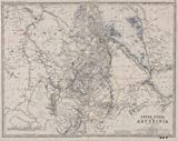 Historic 1870 Map | Upper Nubia and Abyssinia | Africa, Eastern | Maps | SudanAntique Vintage Map Reproduction
