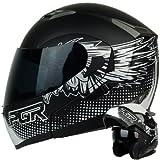 modular helmet pgr - HERO Matte White Black