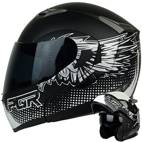 Amazon.com: PGR F99 Hero Modular Flip Up Dual Visor Full ...