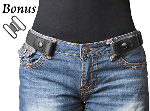 No Buckle Stretch Belt For Women/Men Elastic Waist Belt 1-1/4