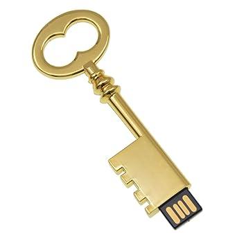 Memoria USB 32GB, Portátil Llave USB 2.0, Oro Chiave di Metallo Pendrive Regalo by Kepmem