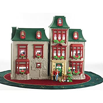 amazoncom fisher price loving family exclusive holiday dollhouse fully furnished with 50 accessories toys games - Dollhouse Christmas Decorations