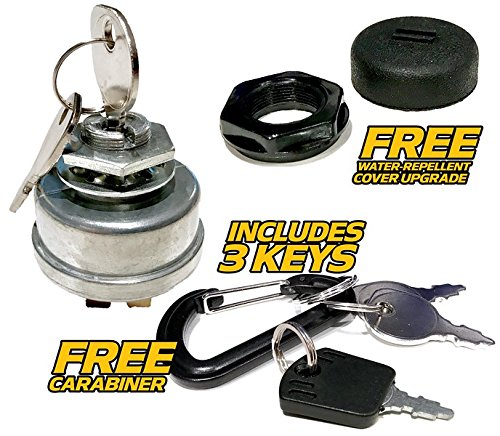Sears Craftsman 532140301, 140301 Ignition Switch w/Protective Cover Upgrade : 3 Keys & FREE Carabiner - HD Switch ()