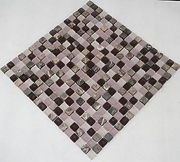 Restposten Fliesen Mosaik Mosaikfliesen Glas Stein Mix Matt Lila Mm - Restposten fliesen aussen