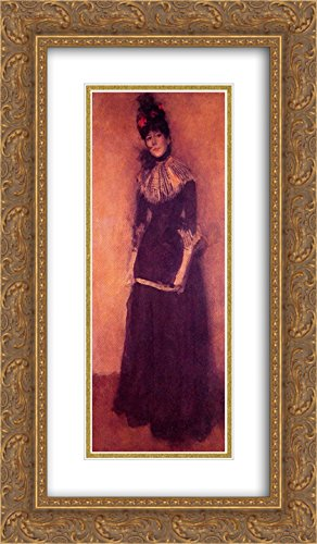 James McNeill Whistler 2X Matted 14x24 Gold Ornate Framed Art Print 'Rose et Argent: La Jolie Mutine' ()
