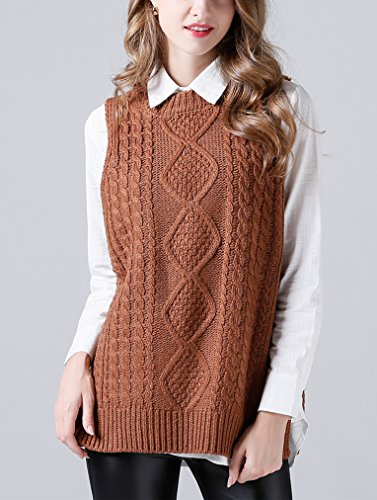 Sweater Femme Chemises Gilet Pulls Tricot sans Printemps Pull Col Manches Blouse Tricot Rond Chaud Casual Over Petit YOSICIL Cf4wqaq