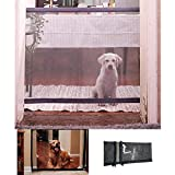 Magic Gate for Dogs Portable Folding Safe Guard Easy Install Anywhere Width 43.3 inches Height 28.3 inches