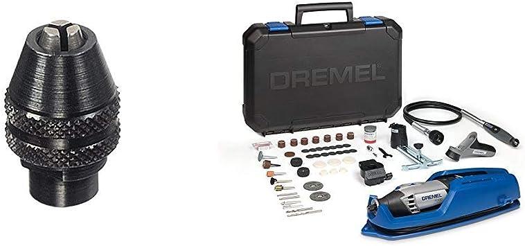 Dremel 4486 - Portabrocas de cierre rápido (0.8 mm a 3.4 mm) + Dremel 4000-4/65 EZ - Pack multiherramienta, eje flexible, cortadora y 65 accesorios (175 W, 4 complementos): Amazon.es: Bricolaje y herramientas