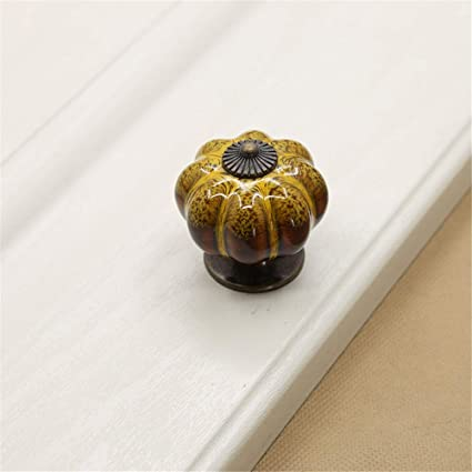 Ceramic Retro Round Drawer Cabinet Cupboard Door Pull Handle Knob Bin Decor