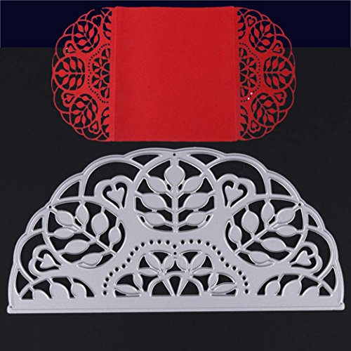 New Snowflake Metal Cutting Dies Stencils DIY Scrapbooking Album Paper Card by TOPUNDER F (Snowflake Cut Charm Diamond)