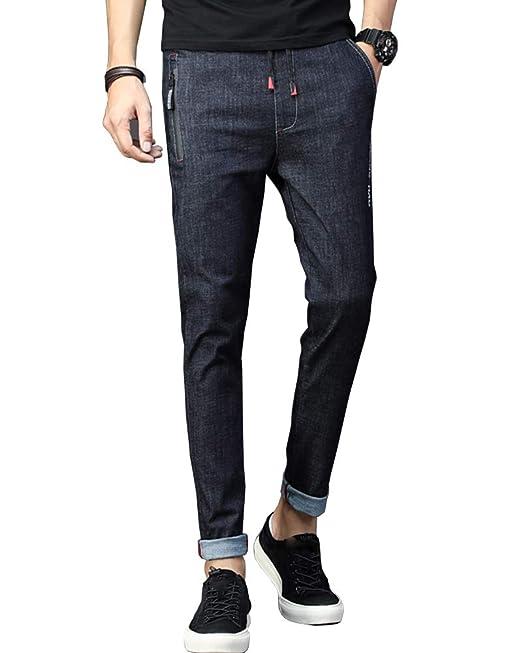 Shengwan Vaqueros Hombre Casuales Slim Fit Chino Pantalones ...