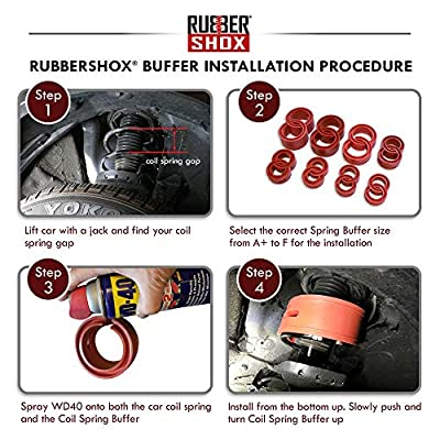 U.S. RubberShox DuraTPE Series Front-Rear automobile coil spring buffer/booster/performance upgrade: Automotive