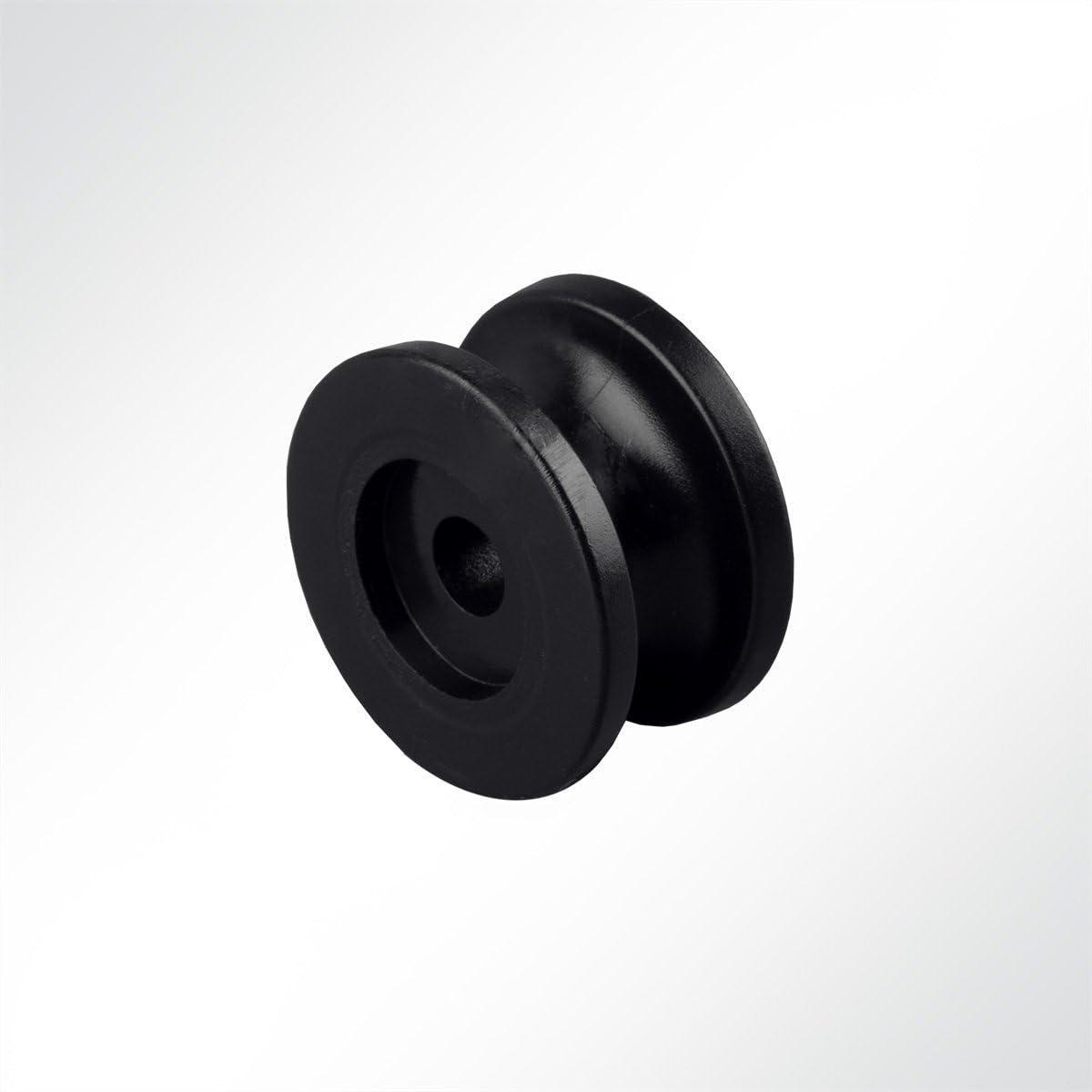 10 St/ück LYSEL Kunststoff Rundknopf, D 25mm in Wei/ß
