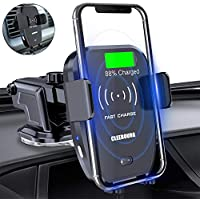CLEEBOURG 10W/7.5W Fast Charging Qi Wireless Car Charger Mount