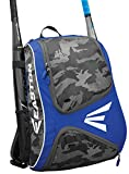 EASTON E110BP Bat & Equipment Backpack Bag | Baseball Softball | 2019 | Royal | 2 Bat Sleeves | Smart Gear Storage | Vented Shoe Pocket | Rubberized Zipper Pulls | Fence Hook