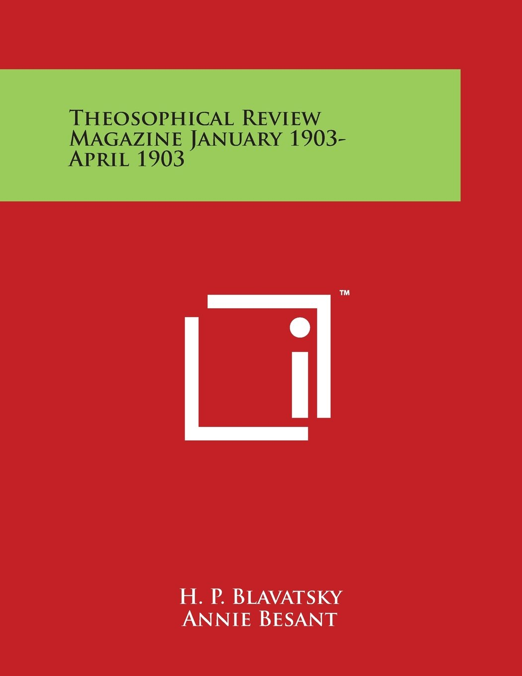 Theosophical Review Magazine January 1903-April 1903 PDF