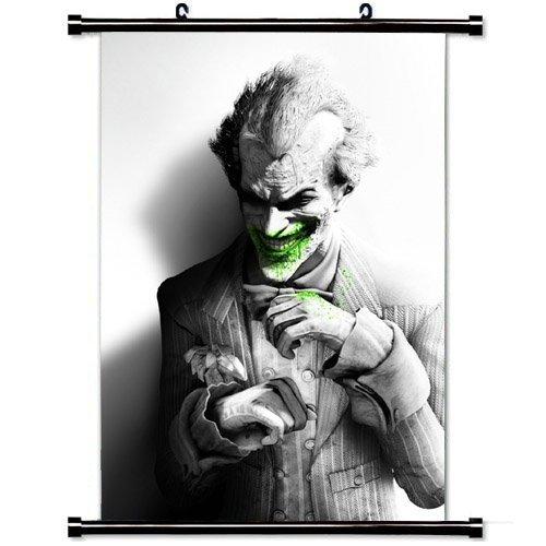 MiniGao Wall Scroll Poster with Batman Arkham City Joker Smi