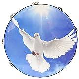 Danzcue 10'' Worship Dove Double Rows Jingles Tambourine