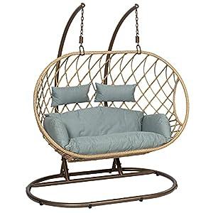 GardenCo Milan 2 Seater Hanging Egg Chair