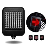 BRIGHTINWD USB Rechargeable Rear Light with Turn Signal Lights Waterproof Safe Distance Warning Lane Lights
