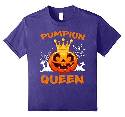 Kids Pumpkin Queen Fun Cute Halloween Matching Gift Tee For Her 8 Purple - Crazy Halloween Costumes Ideas For Couples
