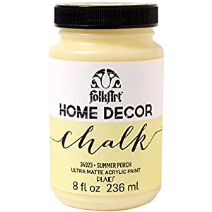 FolkArt Home Decor Chalk Furniture & Craft Paint in Assorted Colors (8 Ounce), 34923 Summer Porch