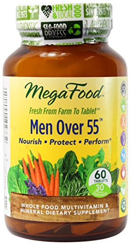 Hommes de MegaFood plus de comprimés multivitamines 55, 60 Comte (Premium Packaging)