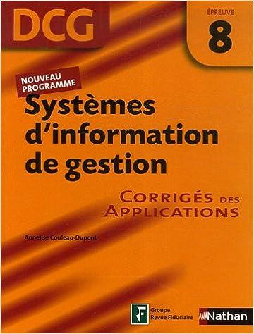 Téléchargez le livre sur joomla Systèmes d'information de gestion Epreuve 8 - DCG - Corrigés des applications by Annelise Couleau-Dupont PDF iBook PDB 209179922X