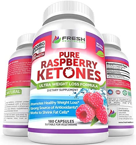 Amazon Com Pure 100 Raspberry Ketones Max 1000mg Per Serving 3 Month Supply Powerful Weight Loss Supplement Provides Energy Boost For Weight Loss 180