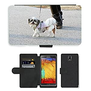 PU LEATHER case coque housse smartphone Flip bag Cover protection // M00131013 Animal perro de mascota canina perrito // Samsung Galaxy Note 3 III N9000 N9002 N9005