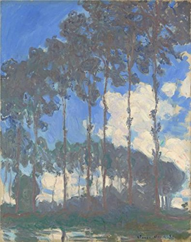 The Perfect Effect Canvas Of Oil Painting 'Claude-Oscar Monet - Poplars On The Epte,1891' ,size: 30x38 Inch / 76x96 Cm ,this Vivid Art Decorative Canvas Prints Is Fit For Hallway Artwork And Home Decor And Gifts