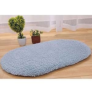 Kicode gris plata antideslizante super felpa alfombras de - Alfombras comedor amazon ...