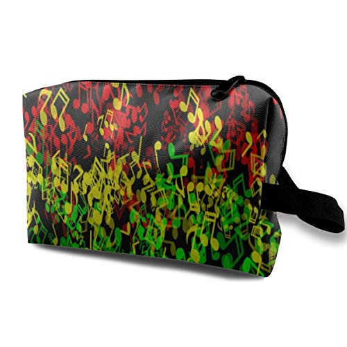 Women Girl Storage Bag Travel Bag Daily Use Cash, Multipurpose Cosmetic Train Case Organizer Makeup Pouch Large Space Zipper Pencil Bag Pouch - Rasta Reggae ()