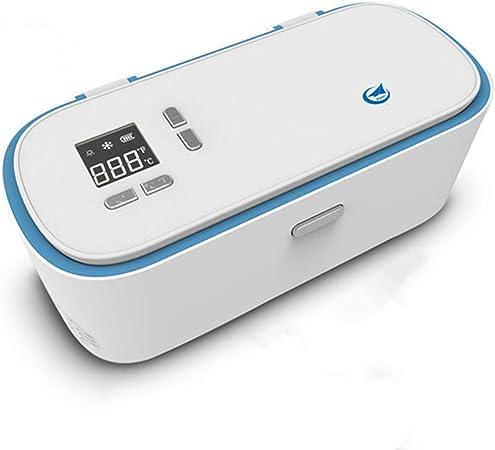 USB portátil de insulina refrigerador caso, pantalla de alta definición LED droga Reefer, refrigeración inteligente caja refrigerada, 2-25 grados aislamiento coche mini refrigerador para insulina Pen: Amazon.es: Hogar
