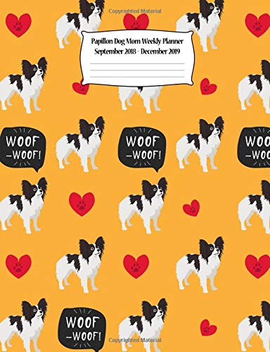 Papillon Dog Mom Weekly Planner September 2018 - December for sale  Delivered anywhere in Canada