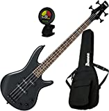 Ibanez GSRM20BWK GIO 4-String Mikro Electric Bass Weathered Black with Gig Bag and Tuner