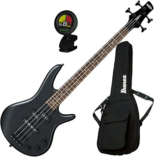 Ibanez GSRM20BWK GIO 4-String Mikro Electric Bass Weathered Black with Gig Bag and Tuner by Ibanez