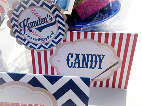 10-food-tents-place-cards-vintage-baseball-collection-navy-blue-chevron-red-stripes-with-malt-brown-