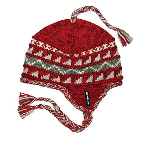 Everest Designs Unisex Sherpa Earflap, Red, One Size